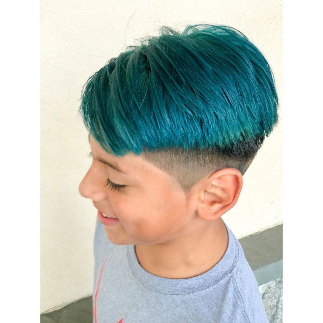 Fashionable Turquoise Side Parted Mohawk Hairstyles In Men's Hair, Haircuts, Fade Haircuts, Short, Medium, Long (Gallery 2 of 20)