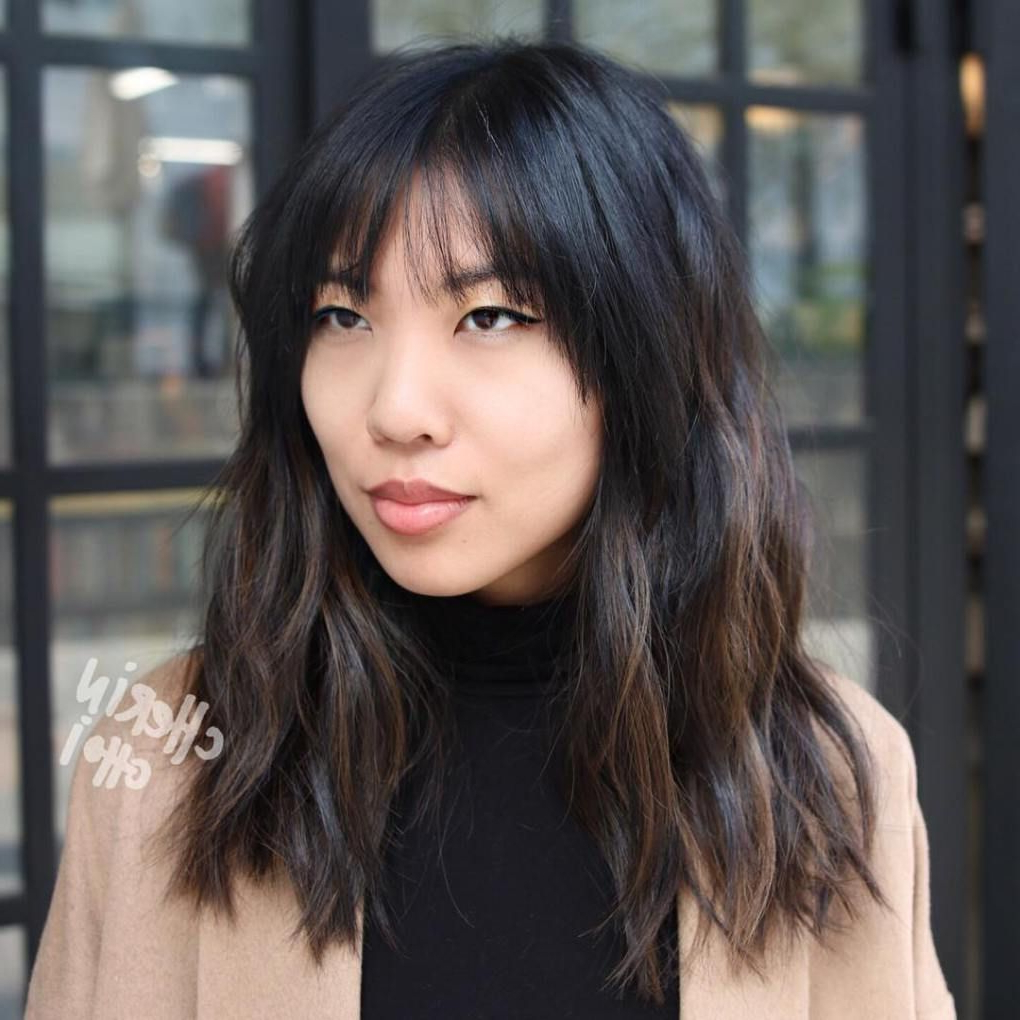 Fashionable Wispy Bangs Asian Hairstyles Pertaining To 30 Modern Asian Hairstyles For Women And Girls (View 12 of 20)