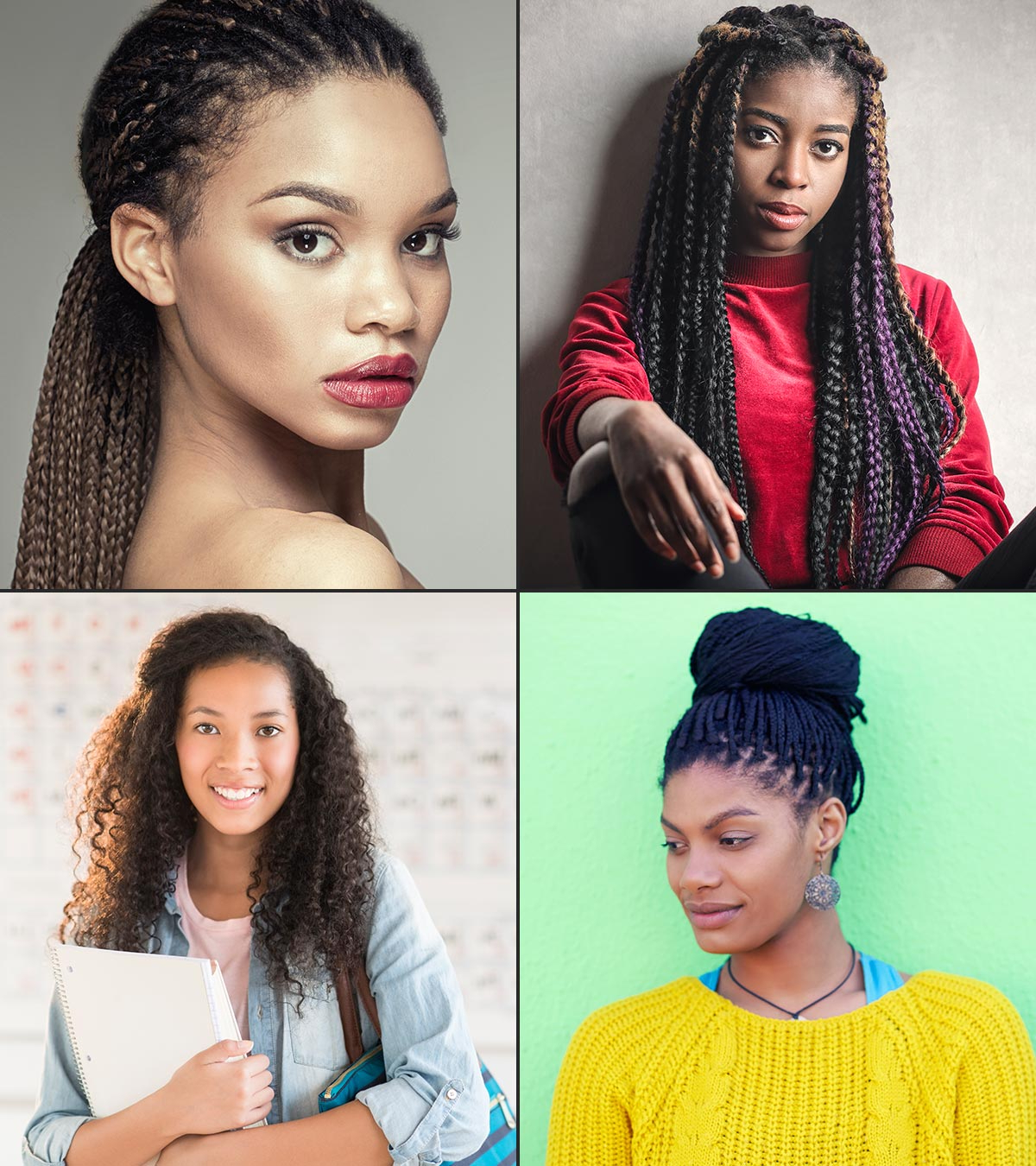 Favorite High Bun With Twisted Hairstyles Wrap And Graduated Side Bang Inside 15 Cute Hairstyles For Black Teenage Girls (View 10 of 20)