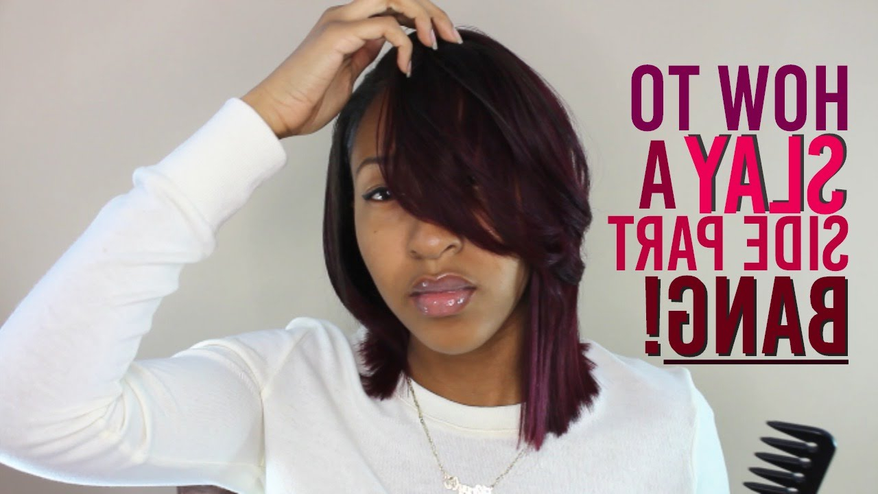 Favorite Layered And Outward Feathered Bob Hairstyles With Bangs Intended For Feathered Bang Tutorial + New Style! (View 9 of 20)