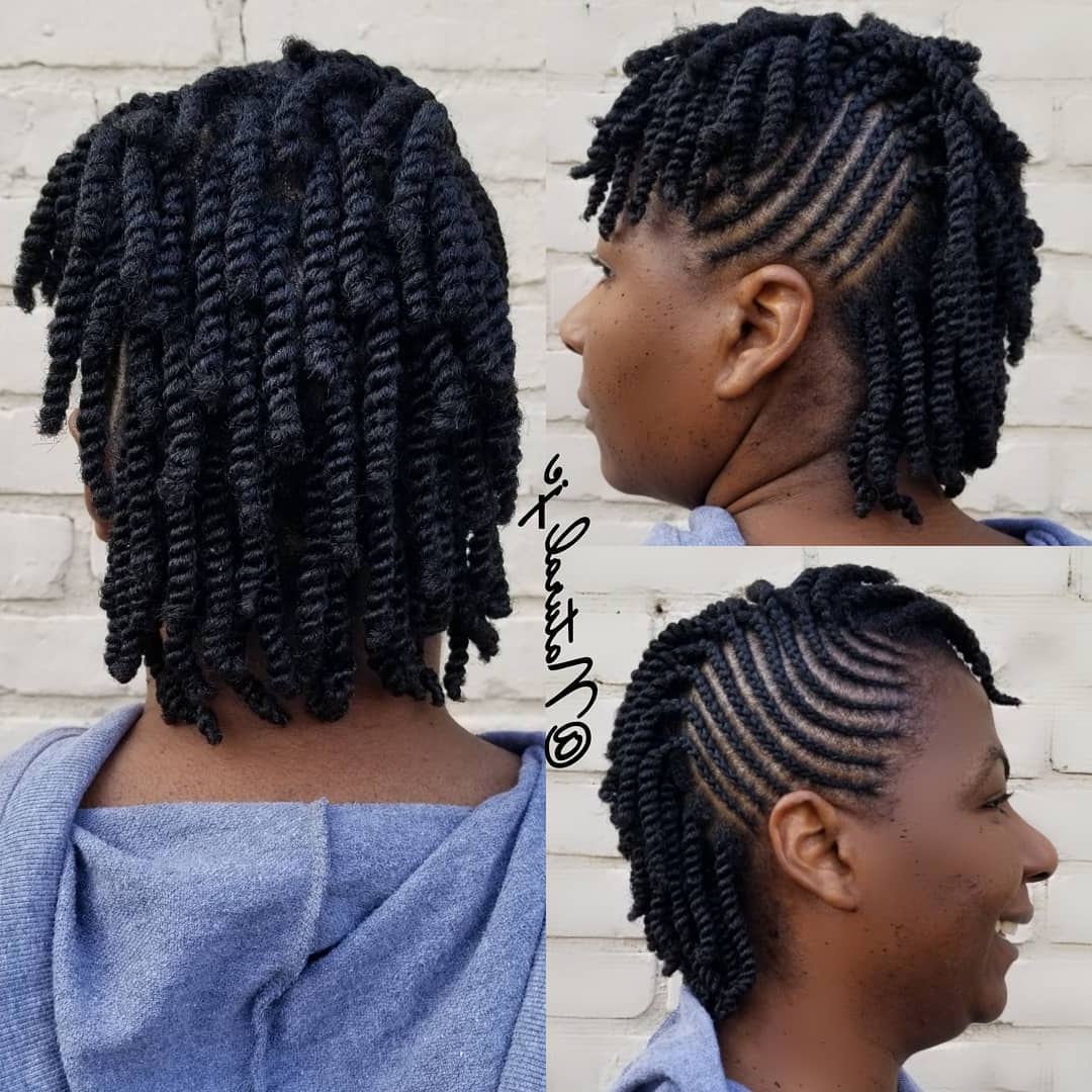 Favorite Straight Layered Hairstyles With Twisted Top Pertaining To 45 Classy Natural Hairstyles For Black Girls To Turn Heads (View 17 of 20)