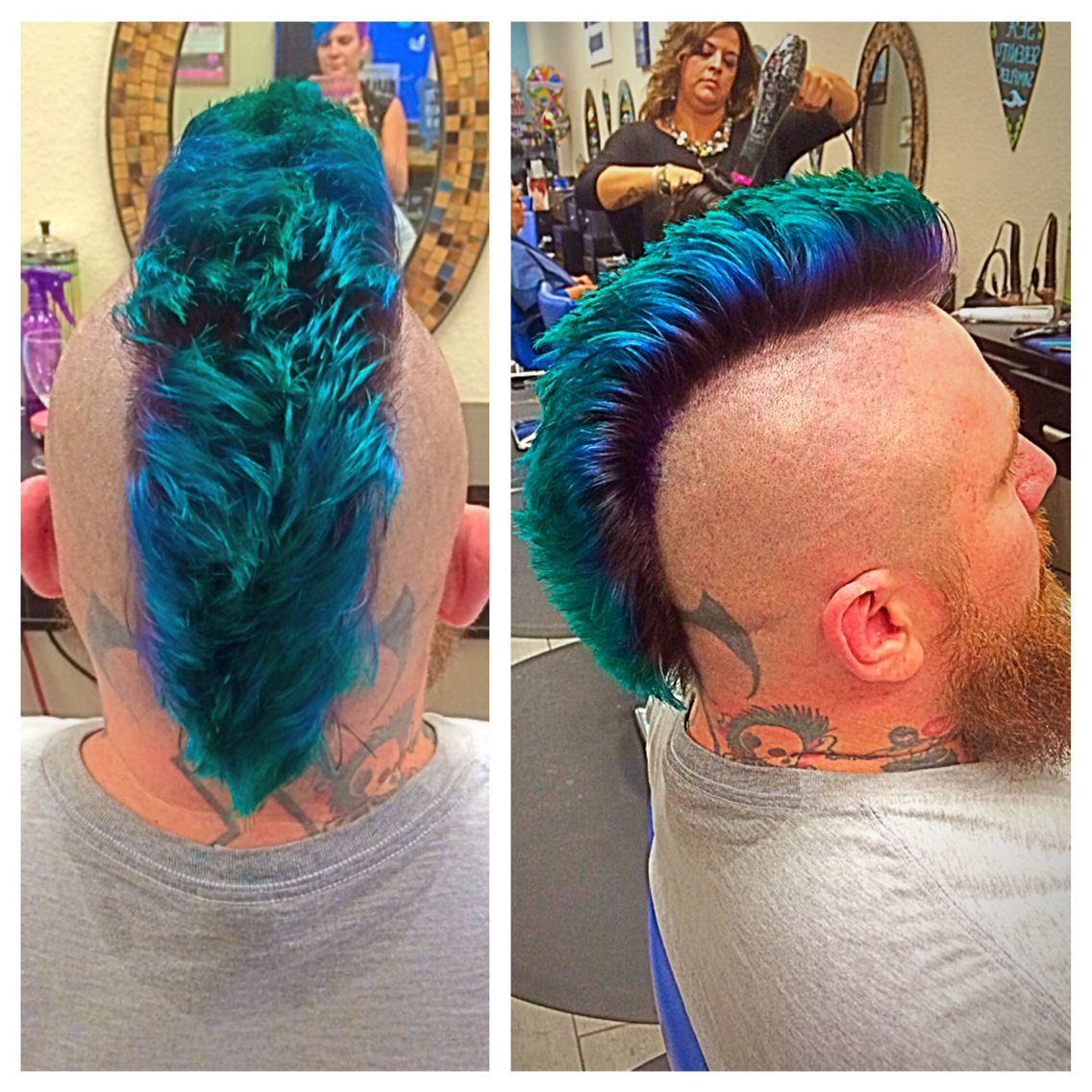 Favorite Turquoise Side Parted Mohawk Hairstyles With Regard To Purple And Blue Mohawk (View 8 of 20)