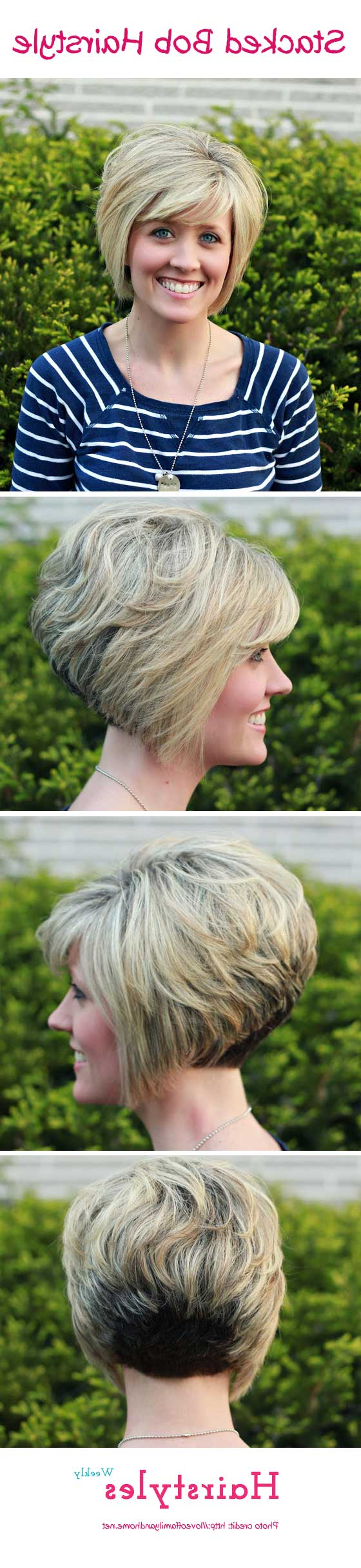 Favorite Volumized Curly Bob Hairstyles With Side Swept Bangs Within Gorgeous Stacked Bob Hairstyle With Side Swept Bangs For (View 15 of 20)