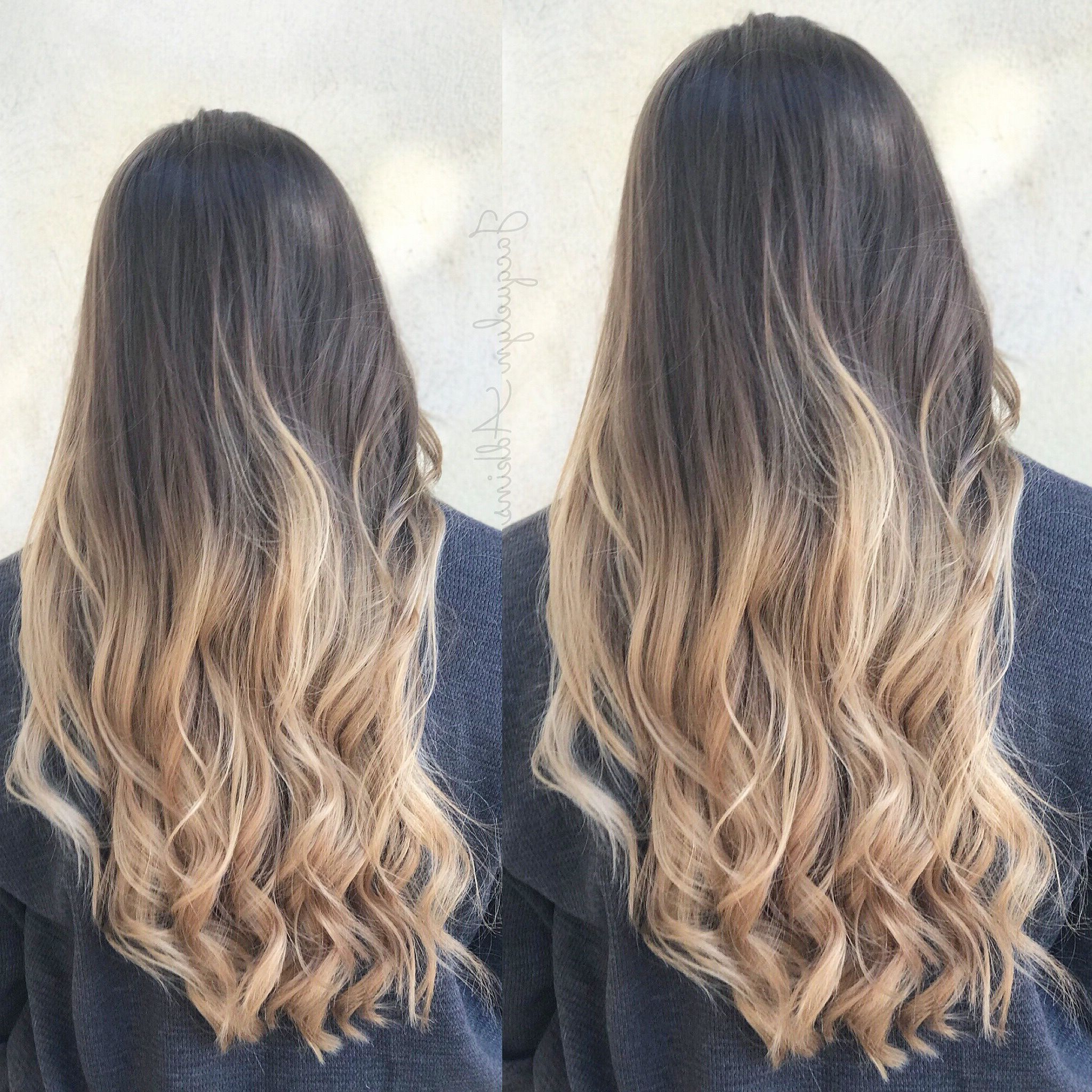 Follow My Instagram: Unevneib Ombre Balayage Hair Dark To With Regard To Preferred Black To Light Brown Ombre Waves Hairstyles (Gallery 6 of 20)