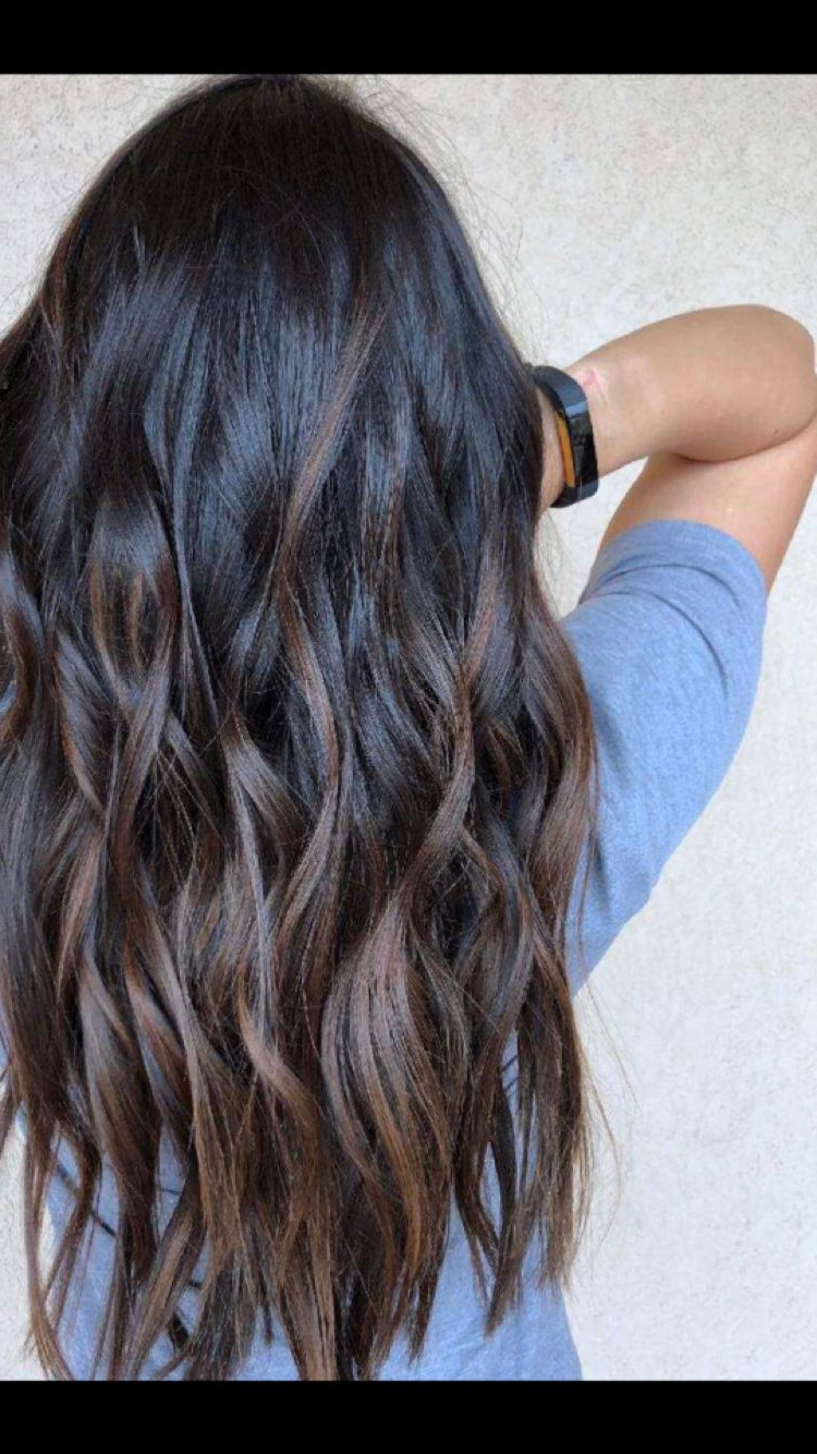 Full Balayagemary Joy, Maryxjoy, Brunette, Asian Regarding Well Known Soft Ombre Waves Hairstyles For Asian Hair (View 8 of 20)