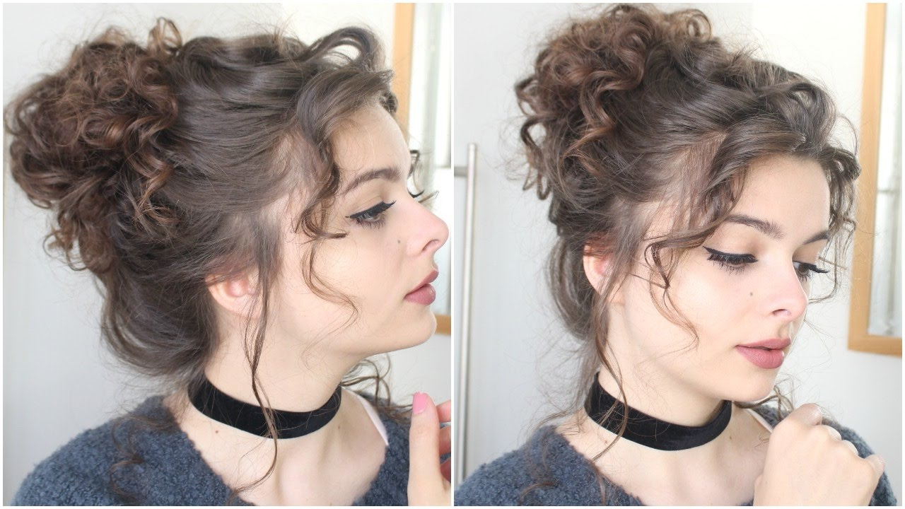 Giant Messy Curly Bun (View 13 of 20)