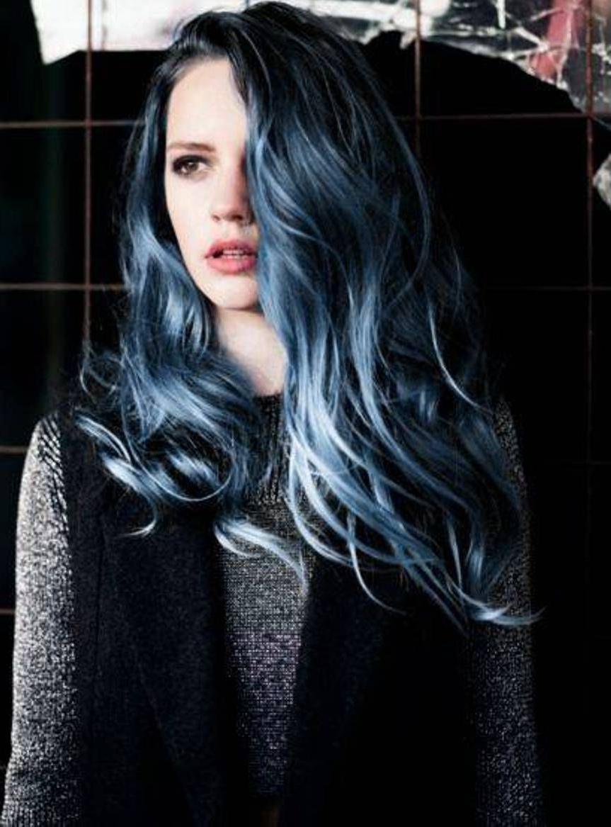 Hair In 2019 For Trendy Black And Denim Blue Waves Hairstyles (View 8 of 20)