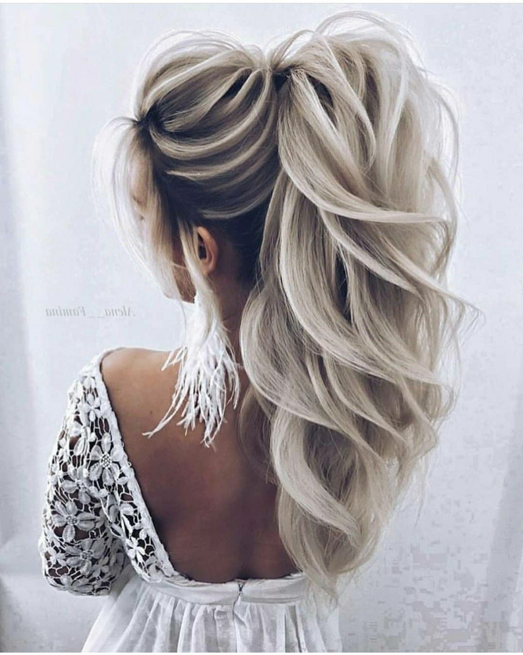 Hair Styles, Hair, Hair Pertaining To Well Known Messy Voluminous Ponytail Hairstyles With Textured Bangs (View 8 of 20)