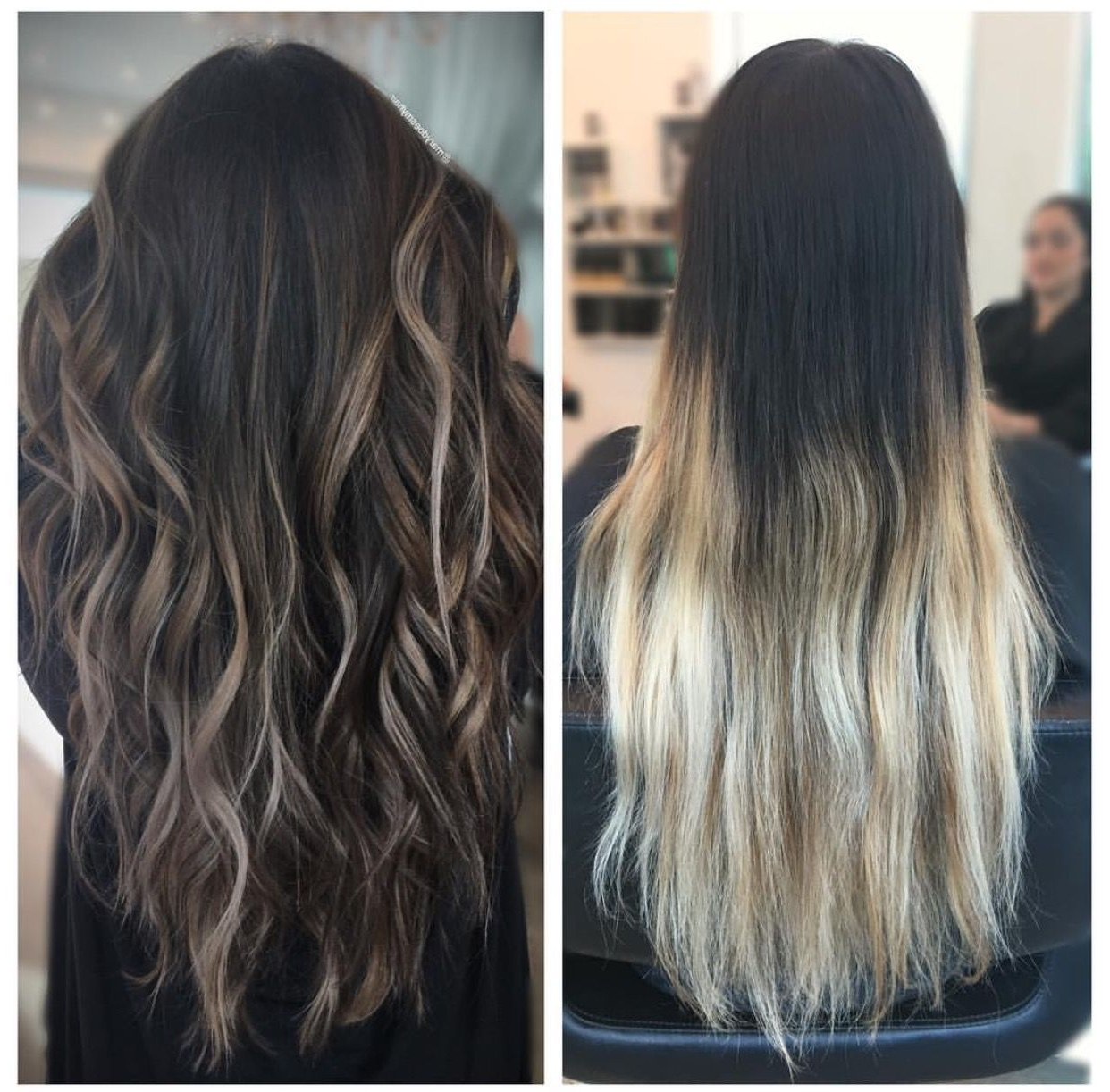 Hair Transformation, Dark To Light Brown Balayage #ombre With Regard To Well Liked Black To Light Brown Ombre Waves Hairstyles (View 11 of 20)