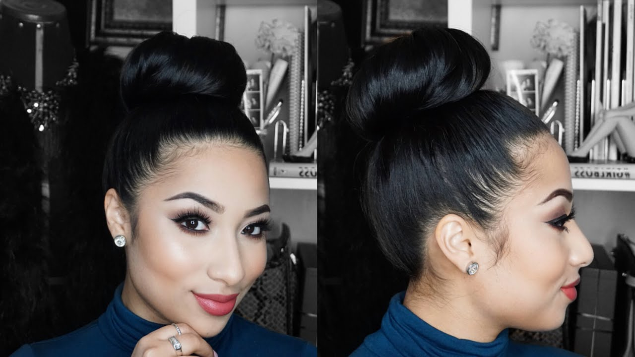 Hair Tutorial: Sleek High Bun Throughout Newest Sleek High Bun Hairstyles With Side Sweep (View 3 of 20)