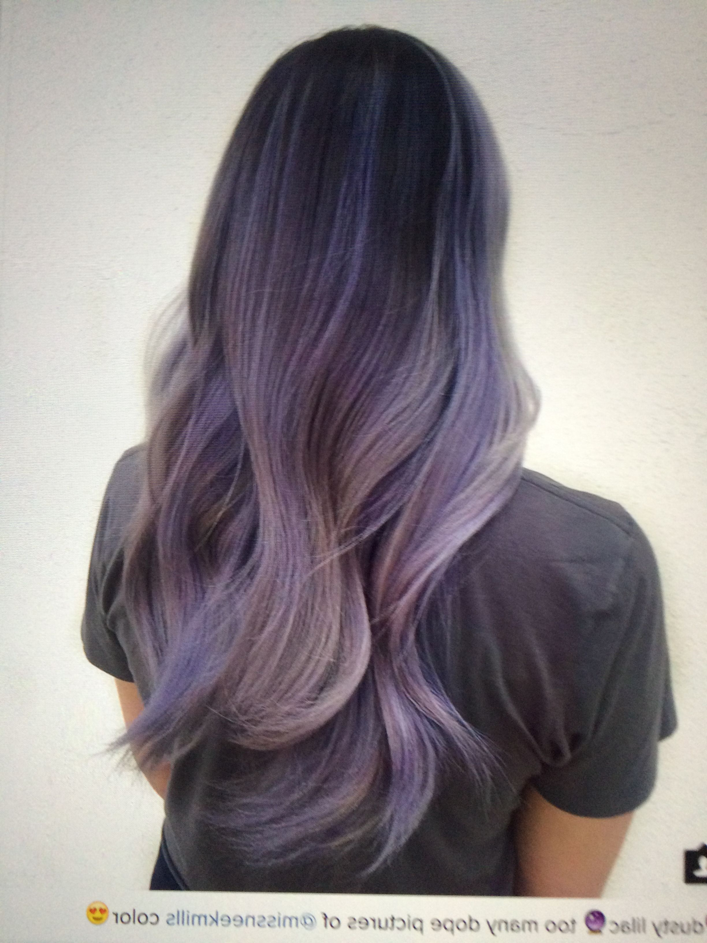 Hairstyles : 16 Glamorous Purple Hairstyles Inside Trendy Ravishing Smoky Purple Ombre Hairstyles (View 3 of 20)