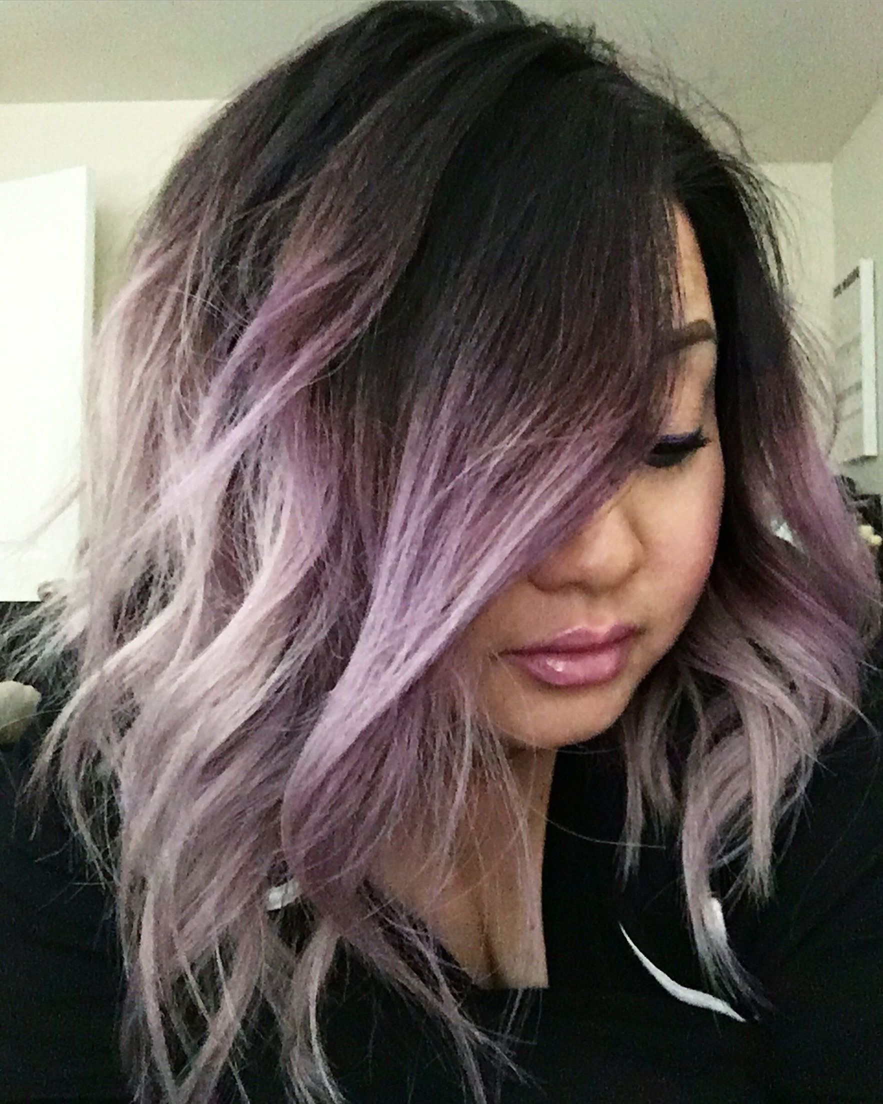 Featured Photo of Ravishing Smoky Purple Ombre Hairstyles
