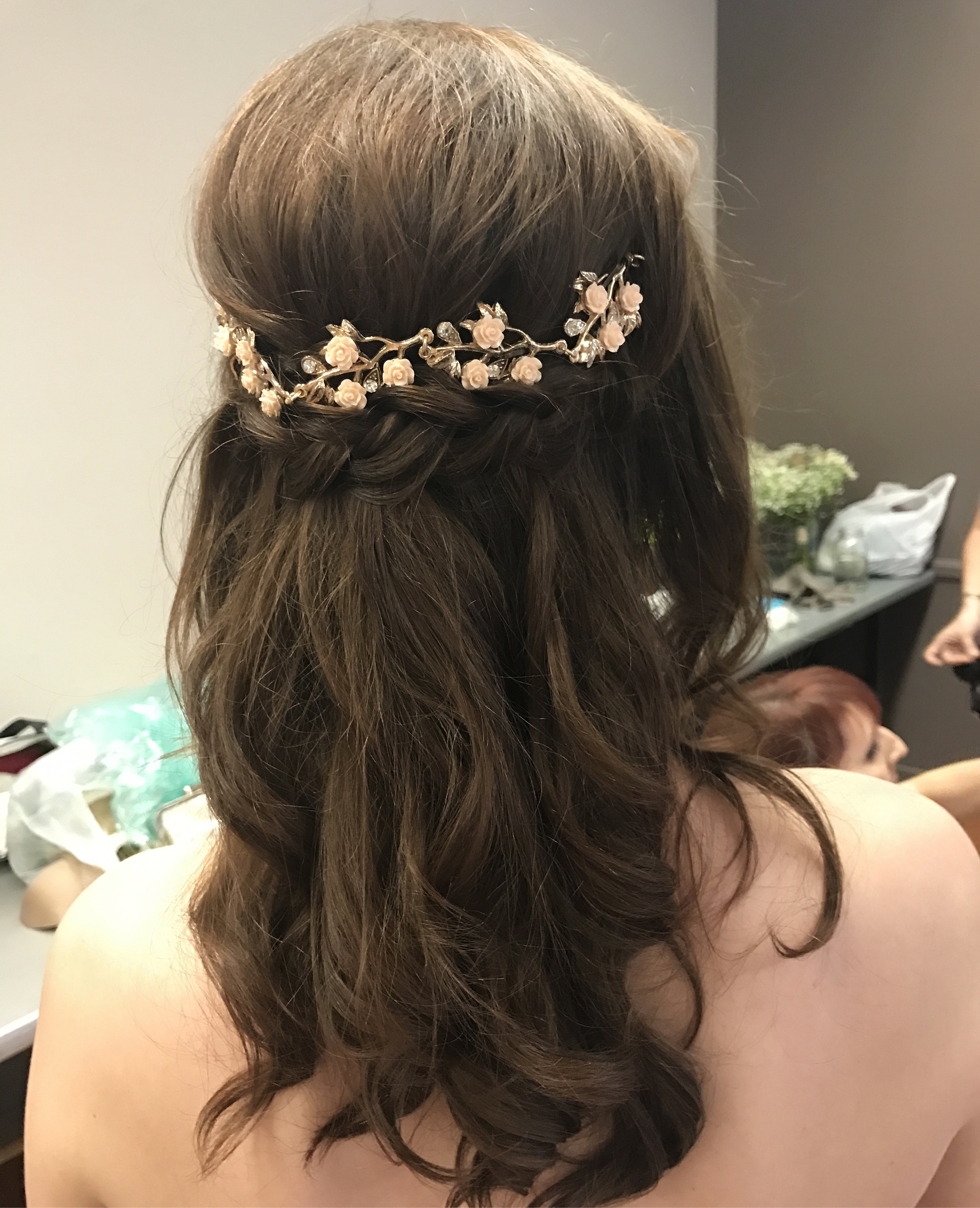 Hairstyles : Impressive Grecian Hairstyles Half Up With For Trendy Long Half Updo Hairstyles With Accessories (View 18 of 20)
