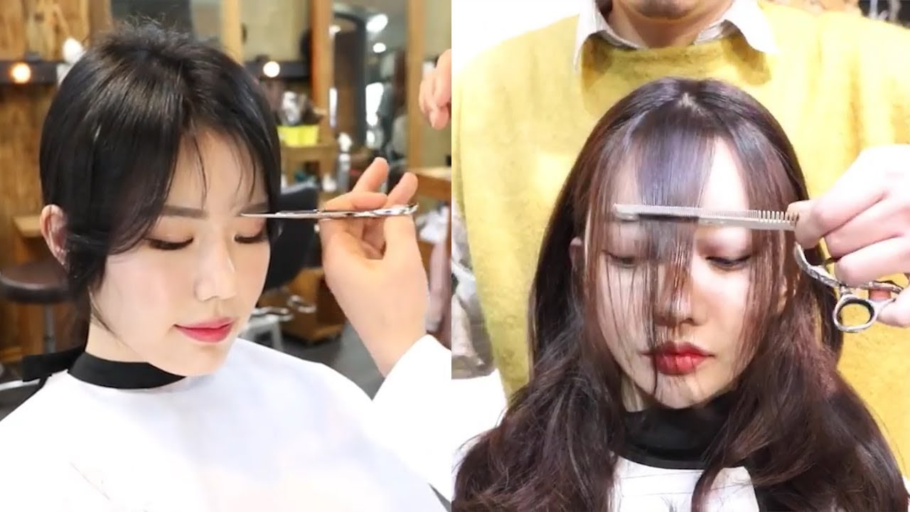 How To Cut Bangs Korean Style 💇 Fringe Cutting And Styling Intended For Well Known Wispy Bangs Asian Hairstyles (View 14 of 20)