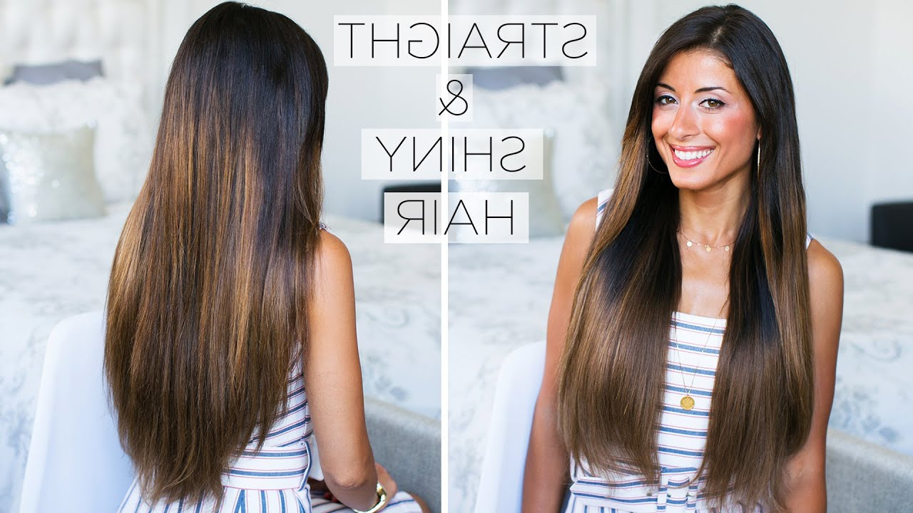 How To Get Shiny Straight Hair: My Straight Hair Routine With Regard To Latest Sleek Straight And Long Layers Hairstyles (View 11 of 20)