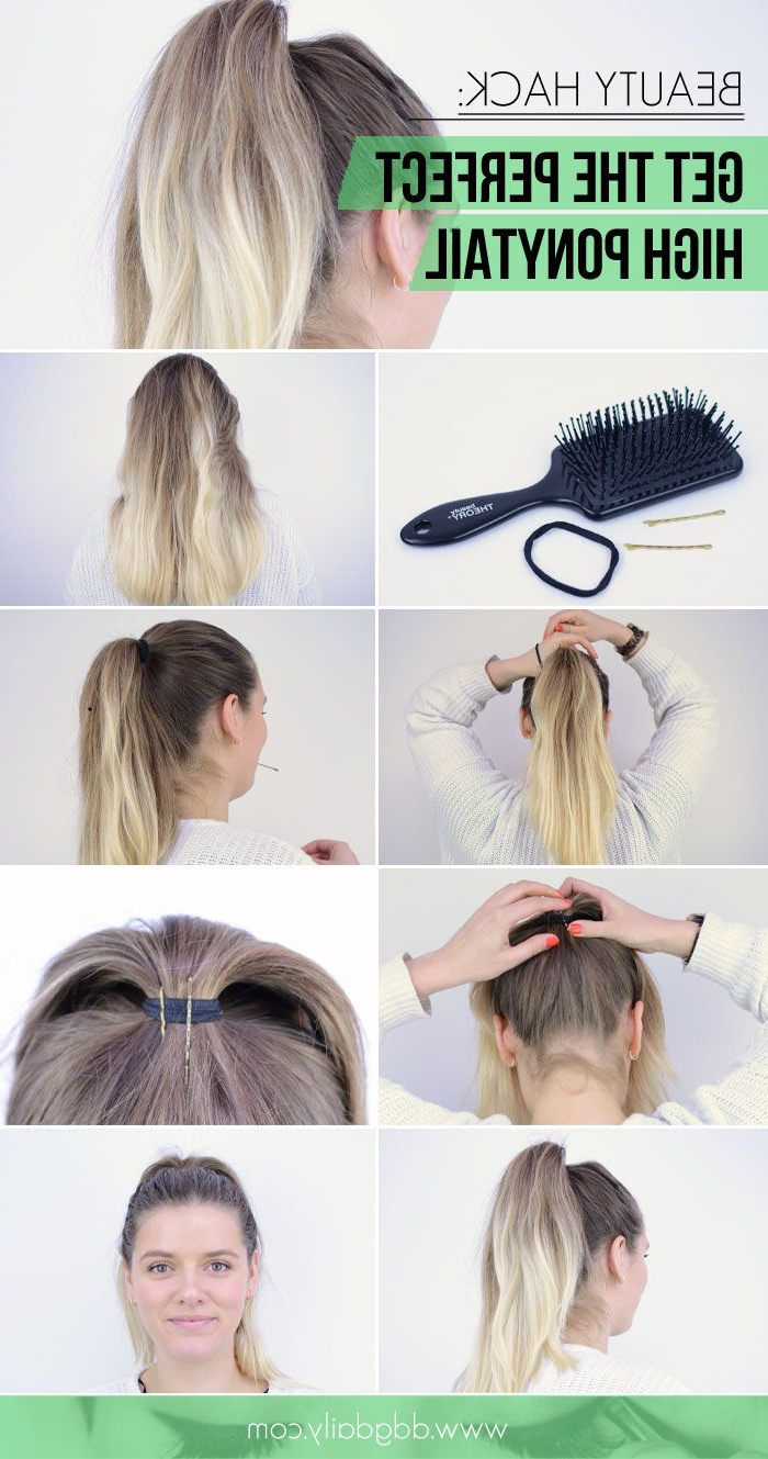 How To Get The Perfect High Ponytail: Beauty Hack Regarding Most Up To Date Messy High Ponytail Hairstyles With Teased Top (View 2 of 20)
