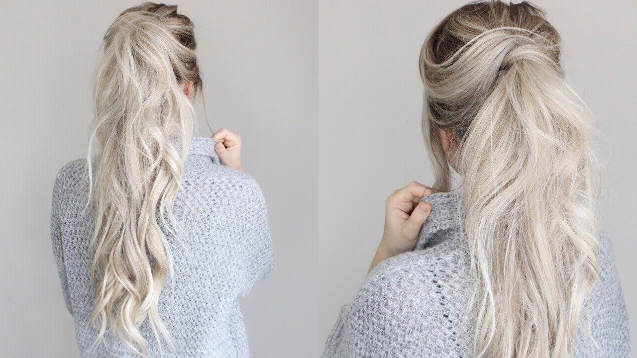 How To: Messy Voluminous Ponytail Tutorial Intended For Most Popular Messy Voluminous Ponytail Hairstyles With Textured Bangs (View 9 of 20)