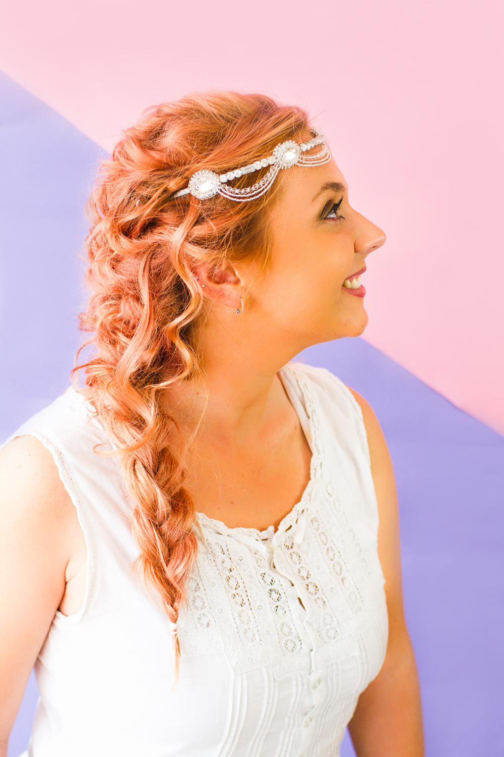 How To Wear Wedding Headband With Hairstyle Wedding In Famous Hairstyles With Fringes, End Curls And Headband (View 16 of 20)