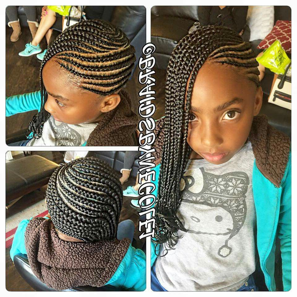 Kids Braided Hairstyles With Regard To Widely Used Mermaid Waves Hairstyles With Side Cornrows (Gallery 7 of 20)