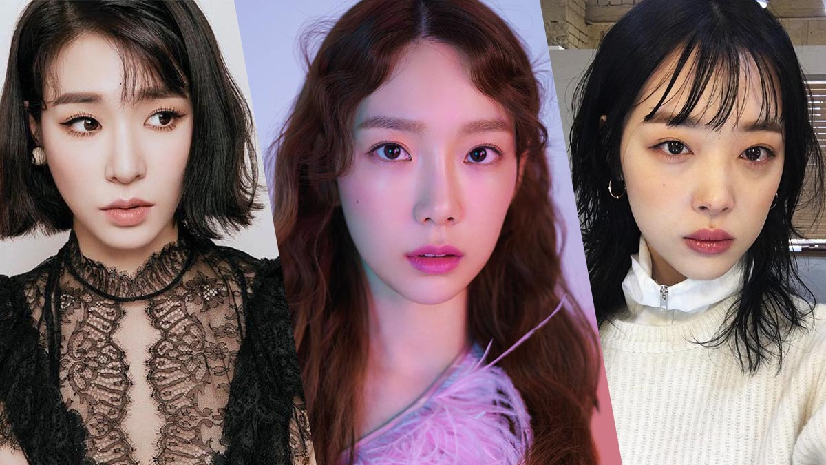 Korean Hairstyle Trends 2019 Inside Famous Eye Covering Bangs Asian Hairstyles (View 12 of 20)