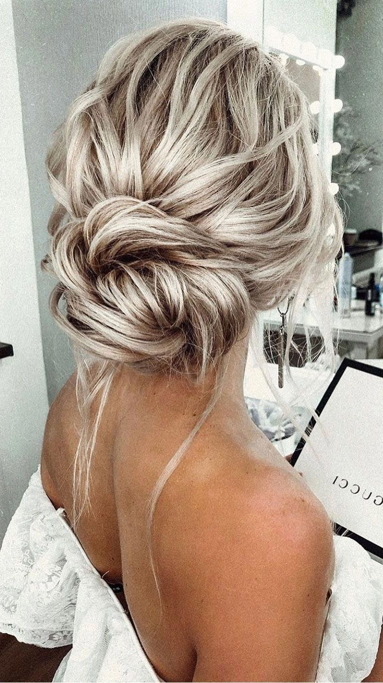 Latest Angular Updo Hairstyles With Waves And Texture Inside Textured Updo Hairstyle,simple Updo,low Bun Wedding Hair (View 2 of 20)