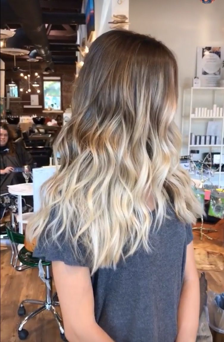 Latest Ash Bronde Ombre Hairstyles With Baliage Hair Ash Blonde Ombré Brown Beach Hair Medium (View 3 of 20)
