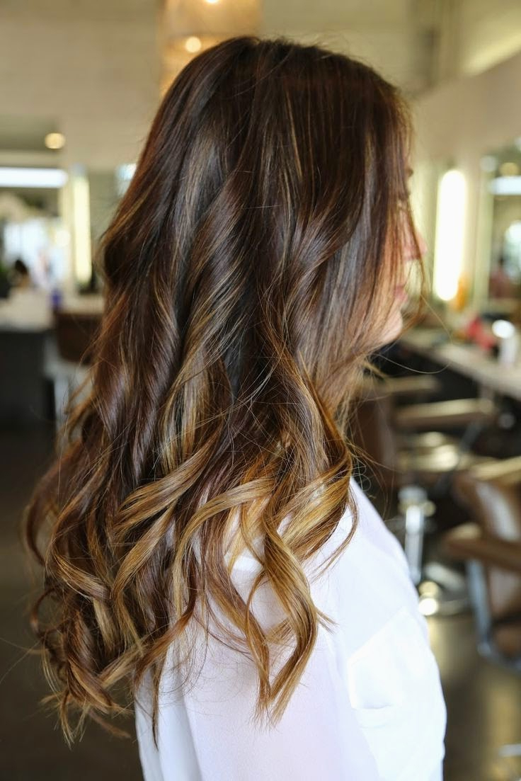 Latest Easy Side Downdo Hairstyles With Caramel Highlights Within 12 Flattering Dark Brown Hair With Caramel Highlights For (View 18 of 20)