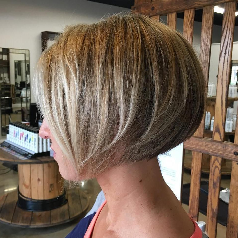 Latest Edgy Textured Bob Hairstyles Pertaining To Textured Concave Bob (View 9 of 20)