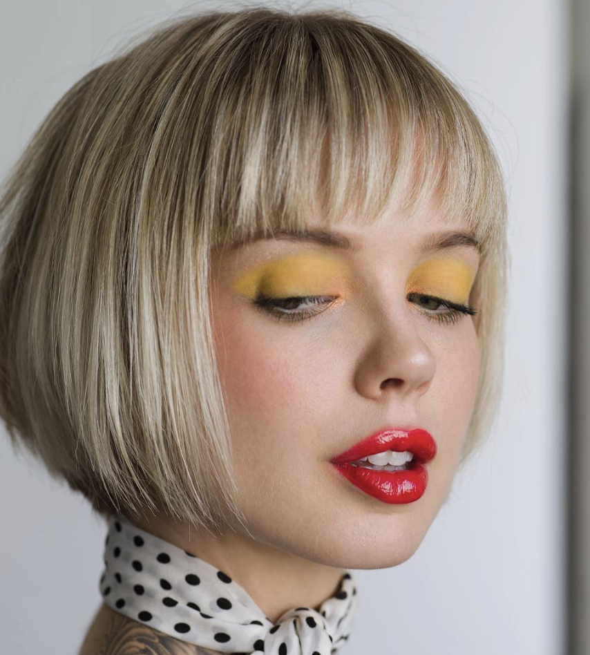 Latest Round Bob Hairstyles With Front Bang With Regard To Short Angled Bob (View 13 of 20)