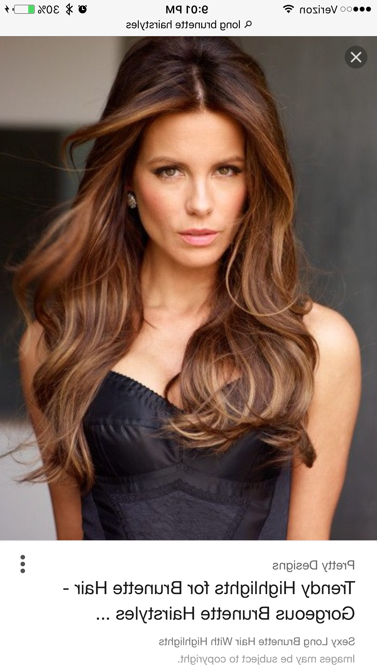Long Brunette Hair, Brown With Regard To Most Popular Long Layered Hairstyles With Added Sheen (View 8 of 20)