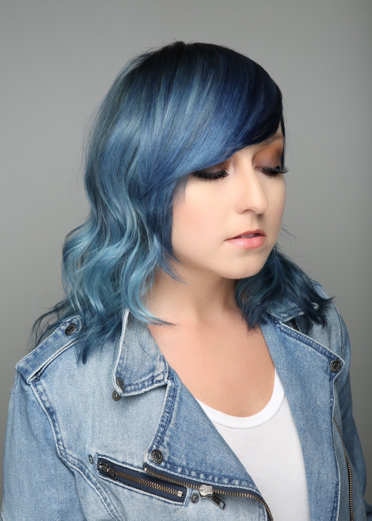 Mane Addicts Could Denim Hair Color Work For You? • Mane Addicts With Popular Black And Denim Blue Waves Hairstyles (View 20 of 20)