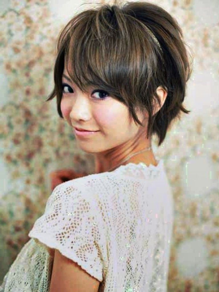 Medium Hairstyles For Asian Women : 2014 Women Haircuts With Recent Textured Pixie Asian Hairstyles (View 6 of 20)