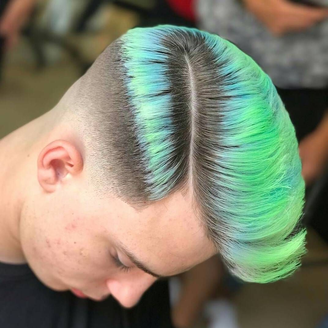 Men's Hair, Haircuts, Fade Haircuts, Short, Medium, Long For Most Recent Turquoise Side Parted Mohawk Hairstyles (View 9 of 20)