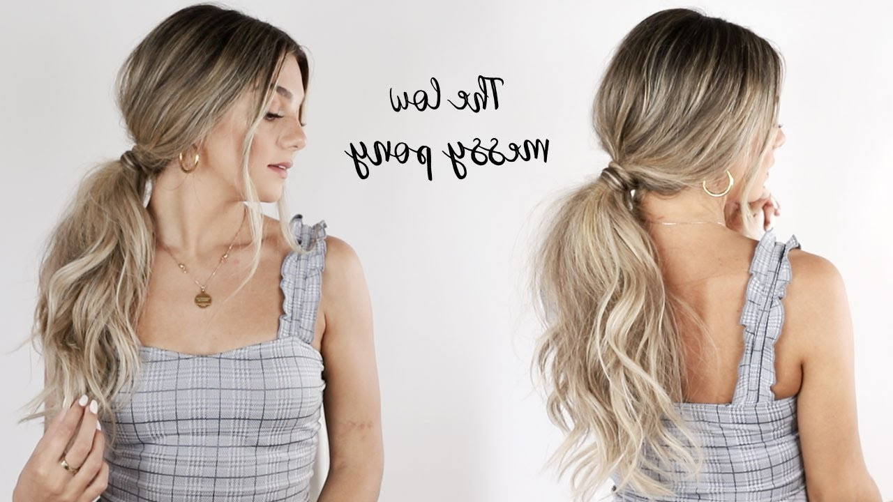 Messy Low Ponytail Tutorial With Jessica Howell (View 11 of 20)