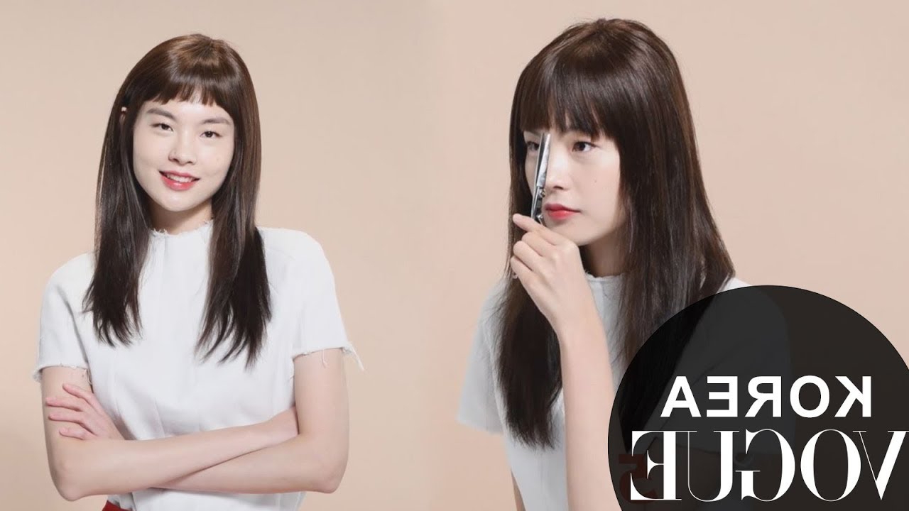 Most Current Eye Covering Bangs Asian Hairstyles Pertaining To 5 Types Of Korean Bangs & How To Create The Hairstyle (View 5 of 20)
