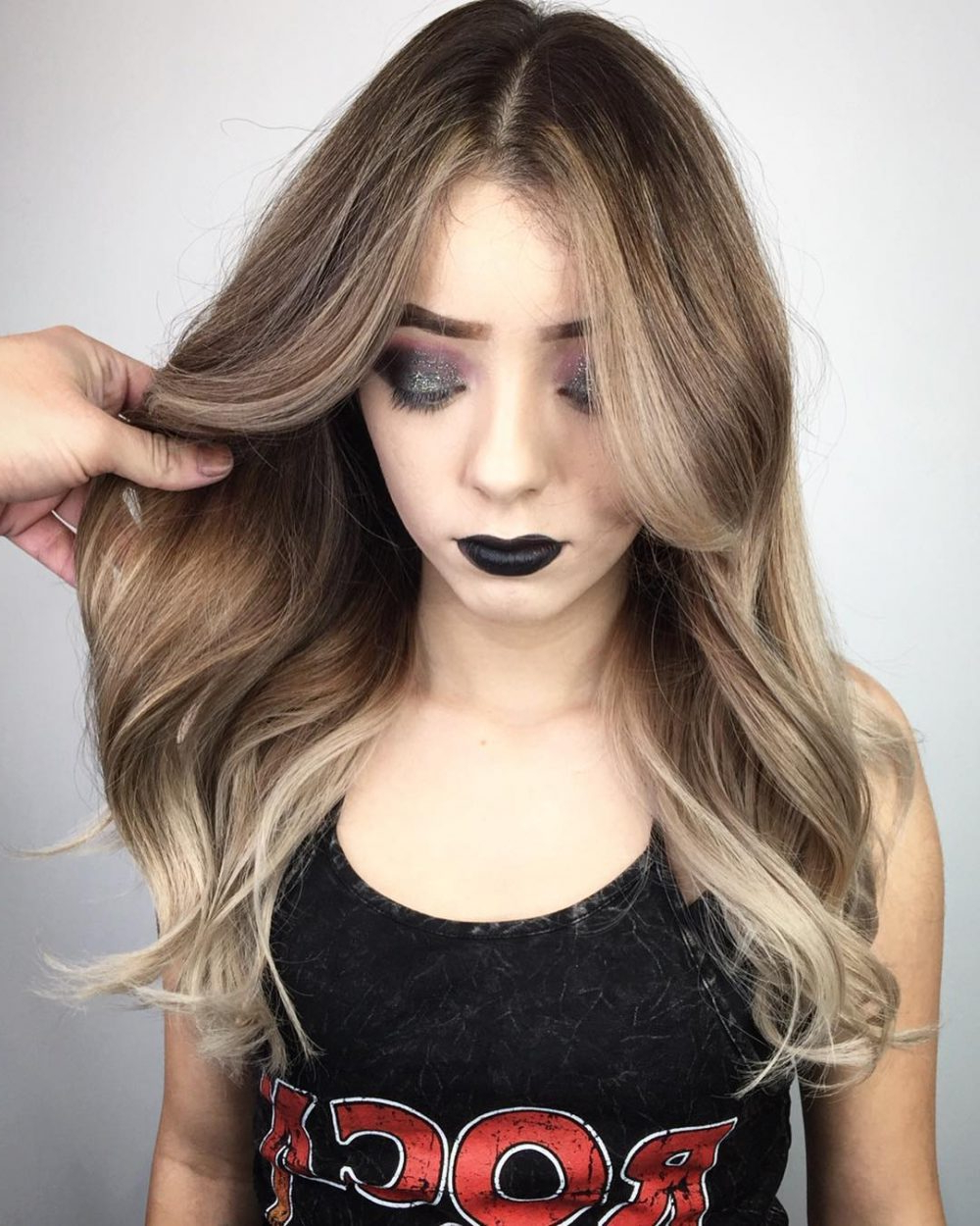 Most Current Soft Highlighted Curls Hairstyles With Side Part Throughout 24 Flattering Middle Part Hairstyles In  (View 16 of 20)