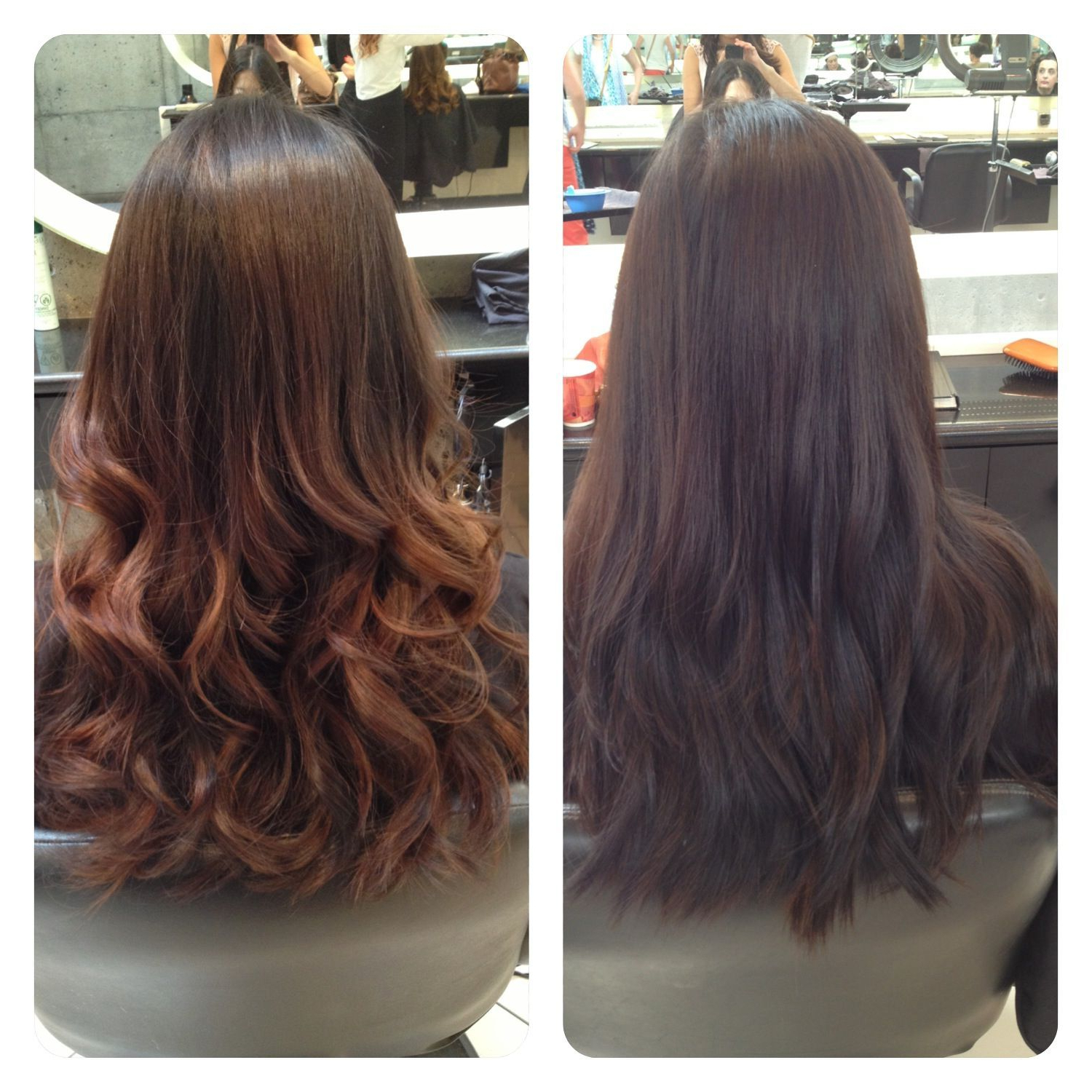 Most Current Soft Ombre Waves Hairstyles For Asian Hair With Ombre Asian Hair. Before And After (View 2 of 20)
