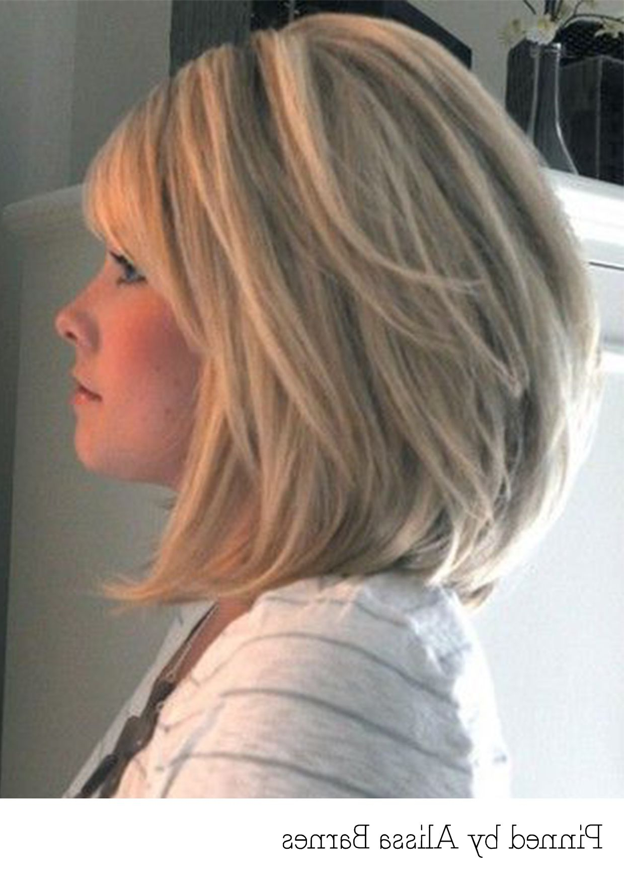Most Popular Layered And Outward Feathered Bob Hairstyles With Bangs Throughout Pin On Cuts And Colors (View 2 of 20)