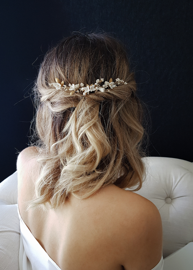 Most Popular Long Half Updo Hairstyles With Accessories Pertaining To 37 Beautiful Half Up Half Down Hairstyles For The Modern (View 16 of 20)