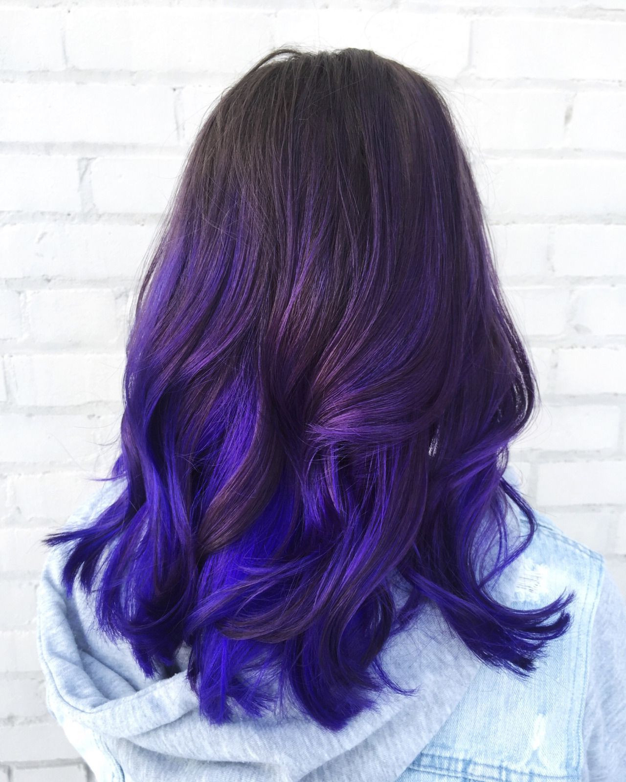 Most Popular Ravishing Smoky Purple Ombre Hairstyles Regarding Hairstyles : Hairstyles Balayage Dark Hair Purple Fab (View 15 of 20)