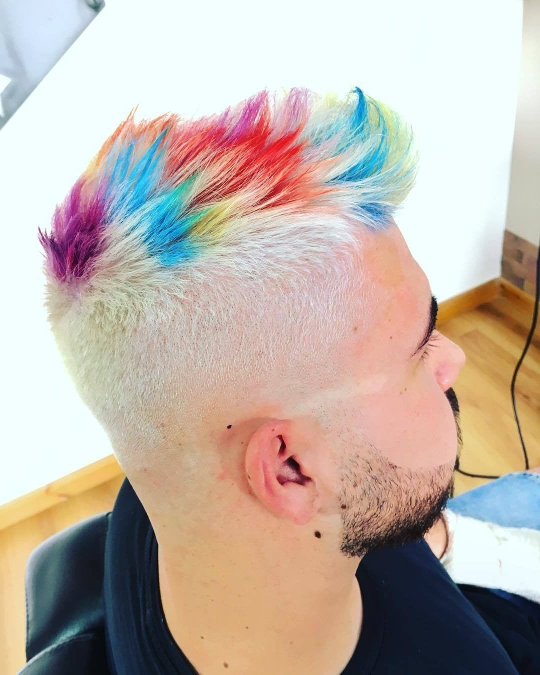 Most Popular Turquoise Side Parted Mohawk Hairstyles Inside Men's Hair, Haircuts, Fade Haircuts, Short, Medium, Long (View 15 of 20)