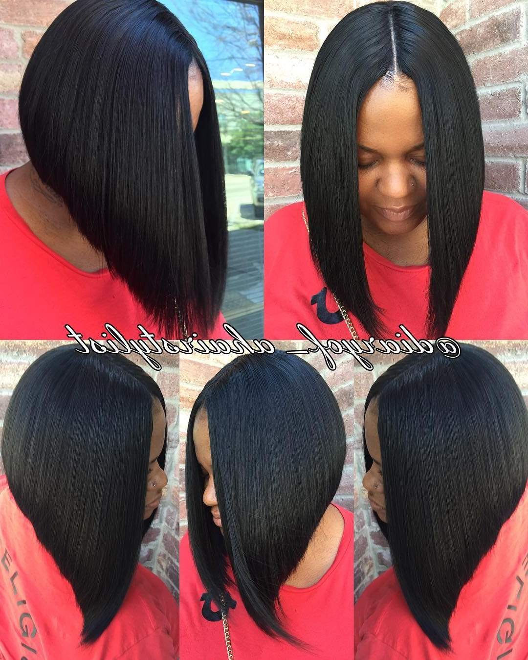Most Recent Blunt Wavy Bob Hairstyles With Center Part In Invisible Part Quick Weave Bob? Razored To Perfection (View 10 of 20)