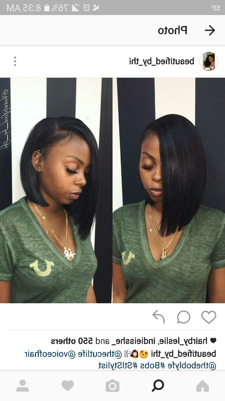 Most Recent Blunt Wavy Bob Hairstyles With Center Part Within Follow>>>> @pinkkbitchh … (View 13 of 20)