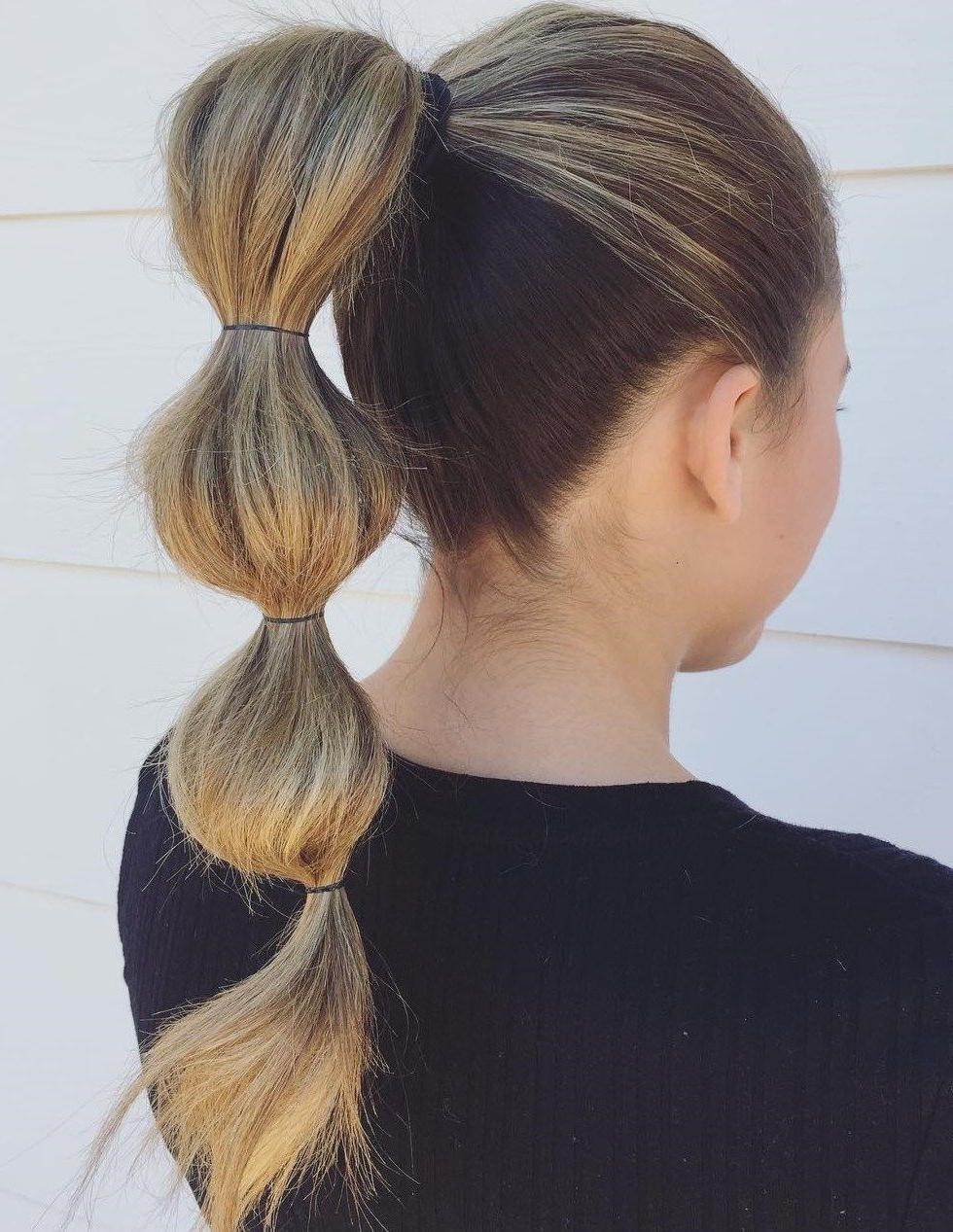 Most Recent High Looped Ponytail Hairstyles With Hair Wrap Inside Pin On Best Hairstyle And Haircut For Women (View 1 of 20)