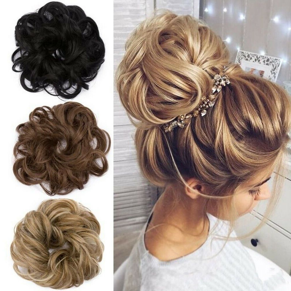 Most Recently Released High Looped Ponytail Hairstyles With Hair Wrap Throughout Details About Extra Long Wavy Scrunchie Hair Piece Pony Wrap (View 14 of 20)