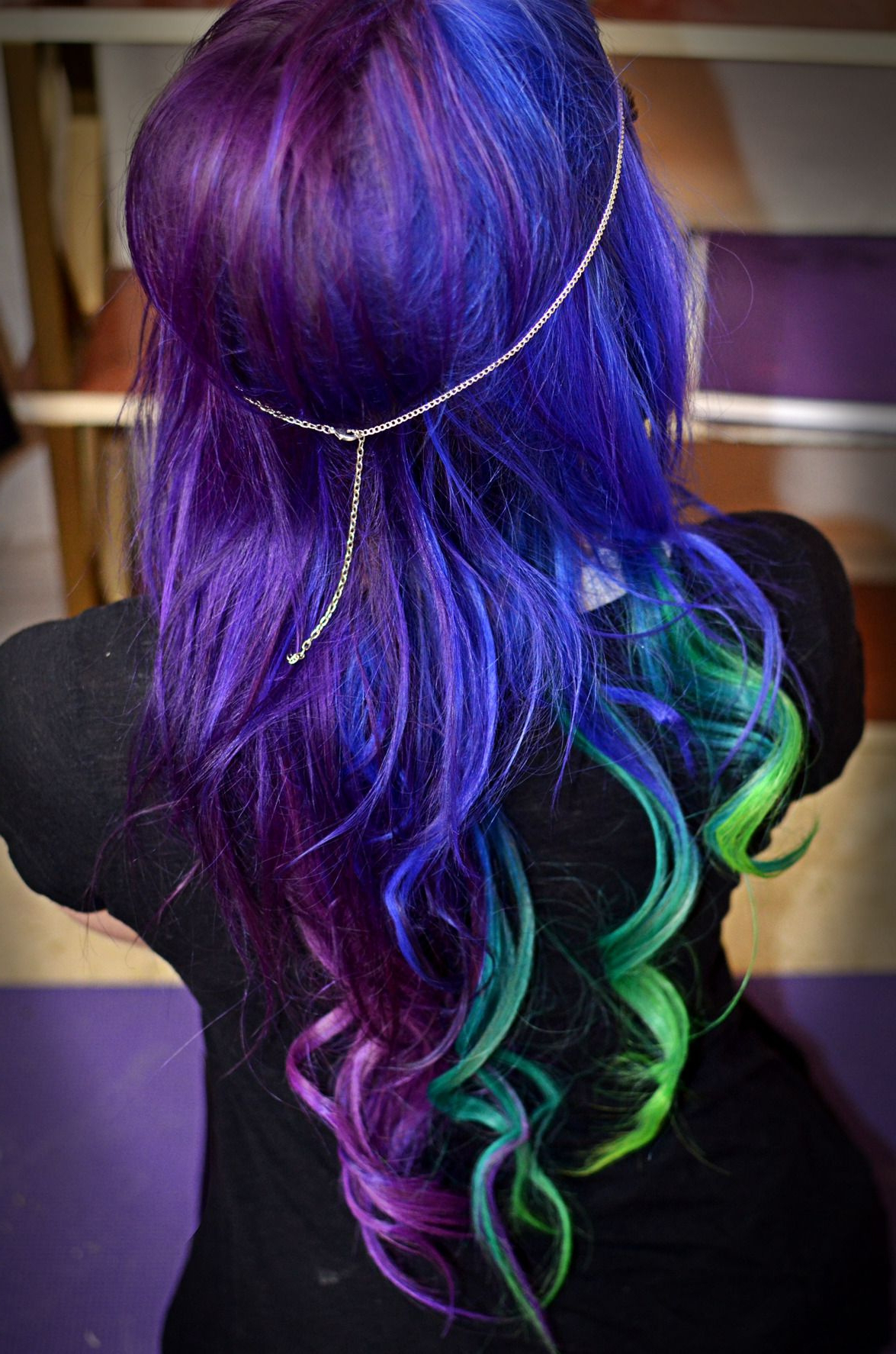 Most Up To Date Ravishing Smoky Purple Ombre Hairstyles Inside Hairstyles : Blue Ombre Hair Bob Ravishing Galaxy Hair Too (View 8 of 20)