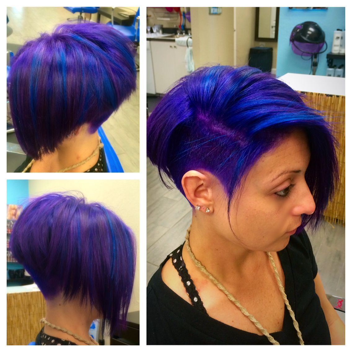 My Work!! In 2019 Throughout 2020 Icy Purple Mohawk Hairstyles With Shaved Sides (View 6 of 20)