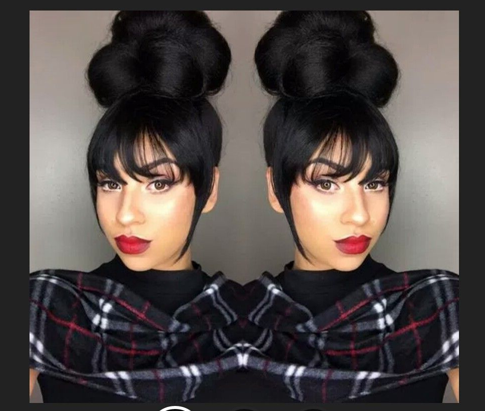 Natural Within Most Current Braided High Bun Hairstyles With Layered Side Bang (View 7 of 20)