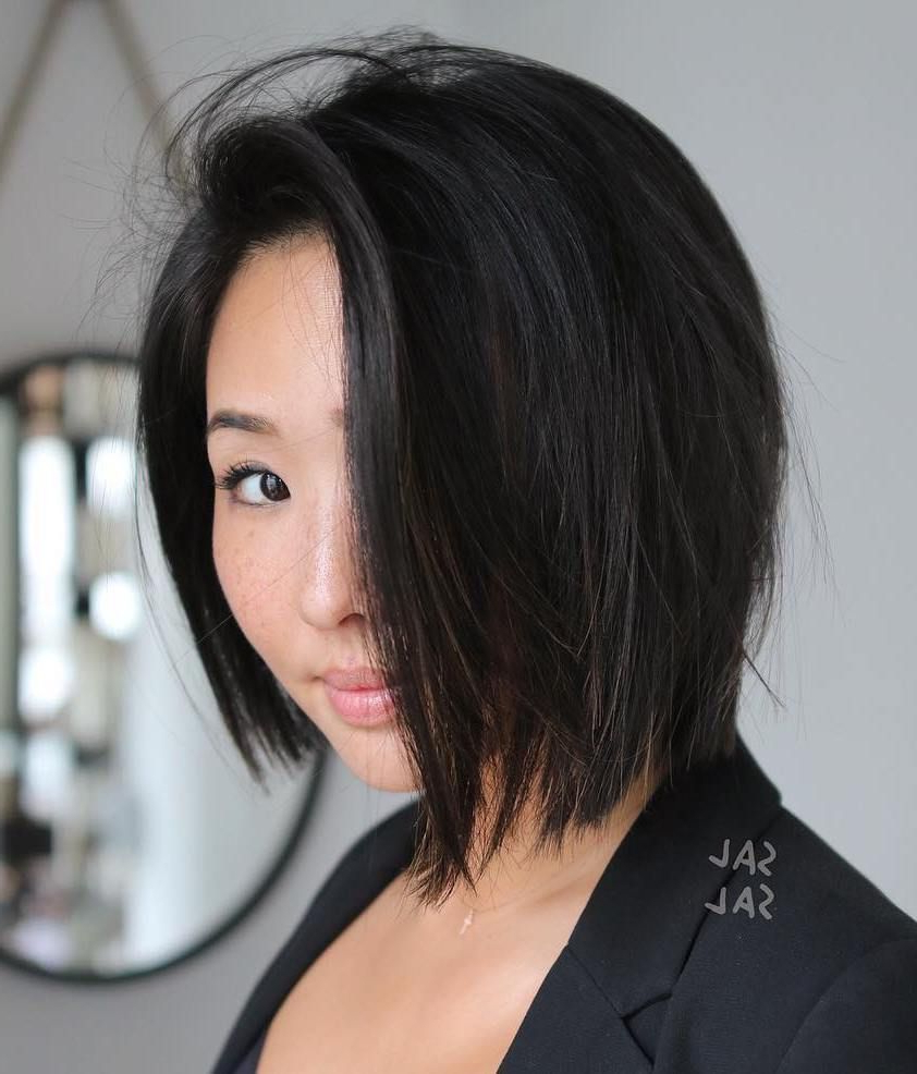 Featured Photo of Asymmetrical Bob Asian Hairstyles