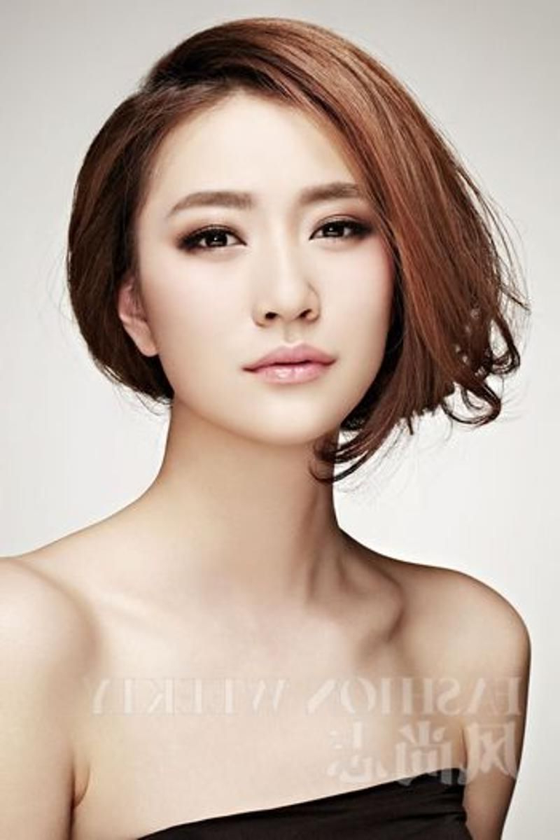 Newest Eye Covering Bangs Asian Hairstyles With 20 Charming Short Asian Hairstyles For  (View 8 of 20)